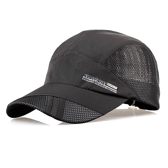 09bf683355a TOOGOO(R) Fashion Mens Summer Outdoor Sport Baseball Hat Running Visor cap  black  Amazon.co.uk  Sports   Outdoors