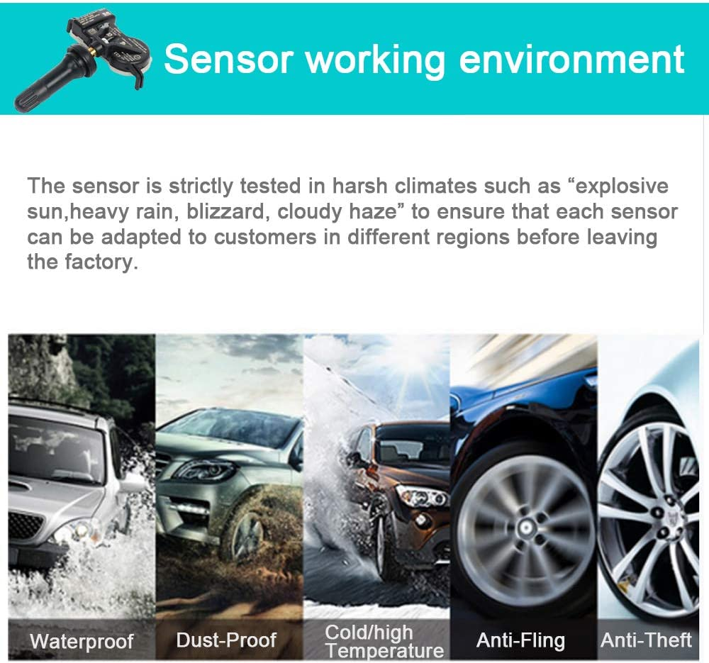 cciyu Fits for 2015-2017 Chrysler 200 2016-2018 Dodge Durango 2015-2017 Jeep Renegade Original Equipment Programmed Tire Pressure Monitoring System Sensor TPMS 433MHz 68313387AB