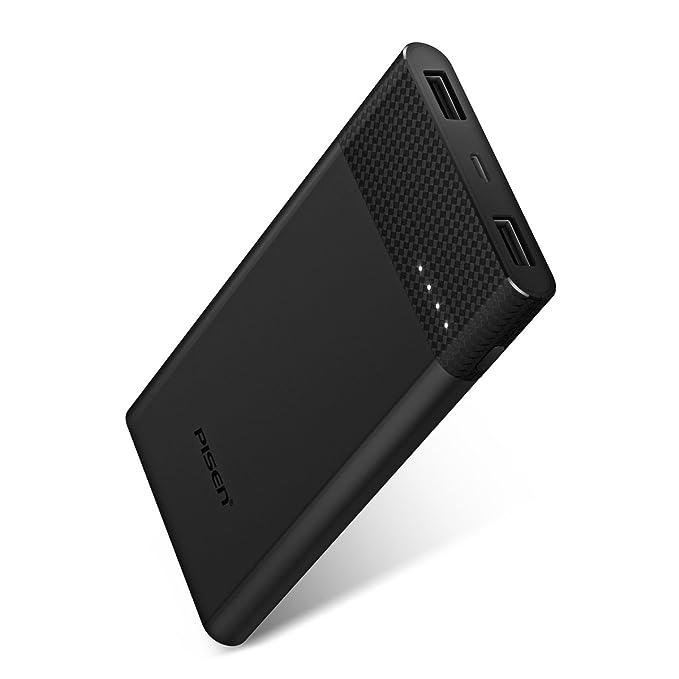 PISEN Batería Externa Cargador Portátil para Móvil 10000mAh ...
