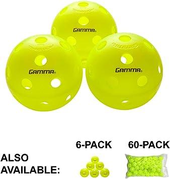 6 Pack Gamma Sports Photon Indoor Pickleballs