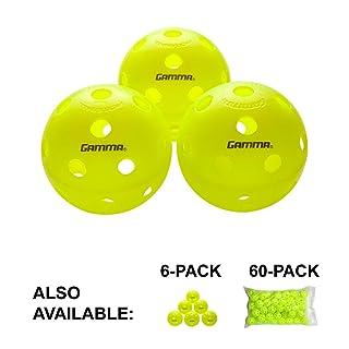 Gamma Sports Photon Indoor Pickleballs, High-Vis Ottica Verde Usapa Approvato Pickleball Balls (3Pezzi, 6Confezione, 60Pezzi)