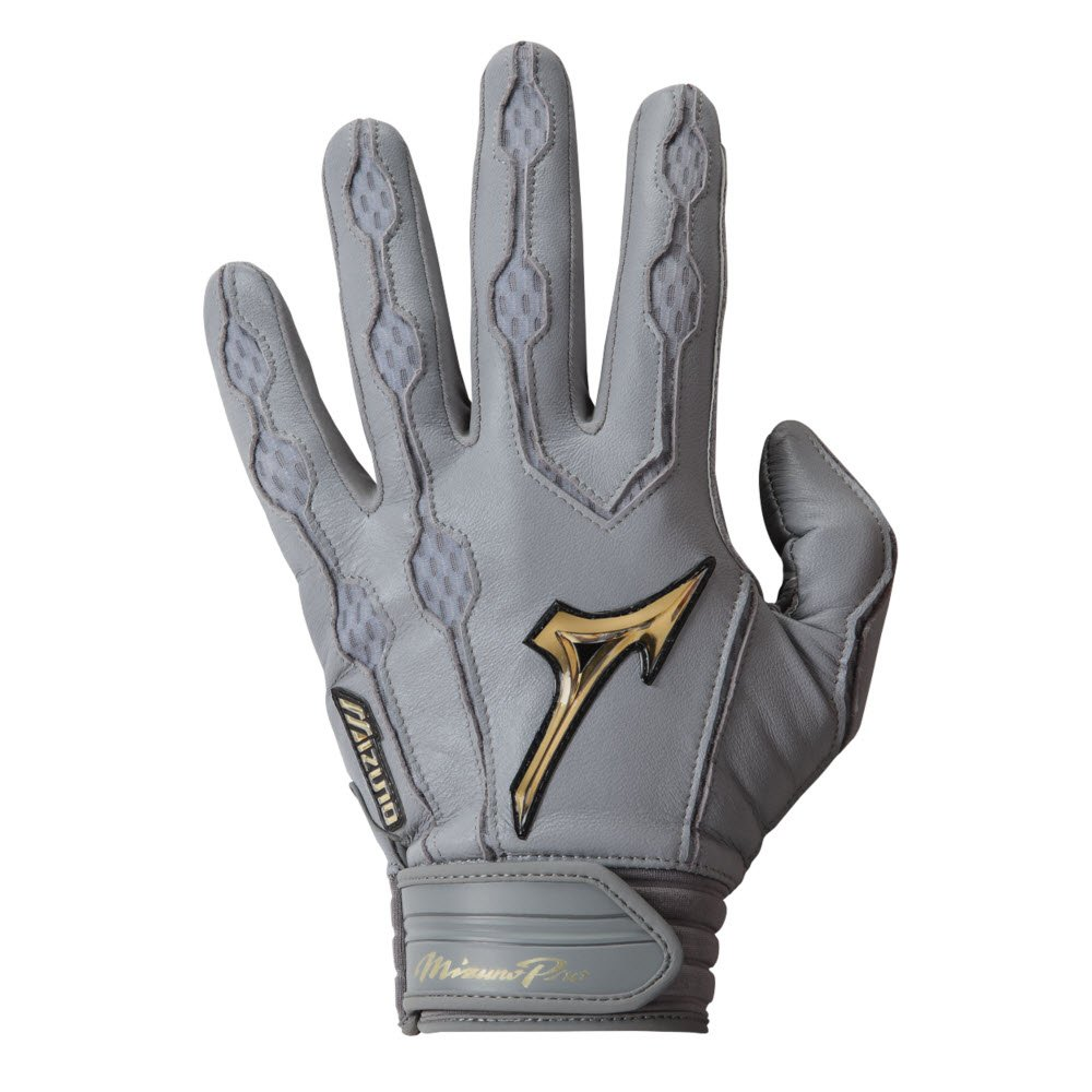 MizunoメンズPro Batting Gloves B01HQHXW9K Medium|グレー グレー Medium