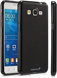 Samsung Galaxy Grand Prime Case, Fosmon [DURA Frost] Smooth Durable & Flexible Slim-Fit Cover for Samsung Galaxy Grand Prime 2015 (Black)