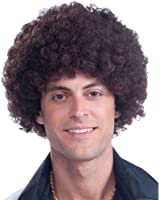 Brown Afro Wig Adult Costume Accessory