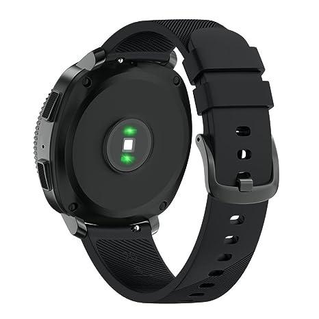 Correa Samsung Gear Sport, Sannysis Banda de Pulsera de Deportiva para reemplazo Pulsera Samsung Gear Sport Correa de Silicona Suave para Reloj ...