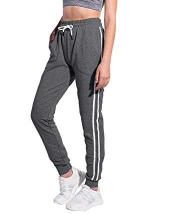 0be351b5e5 SUNNYME Womens Tracksuit Bottoms Casual Athletic Trousers Jogger Pants  Drawstring Waist Sweatpants with Pockets