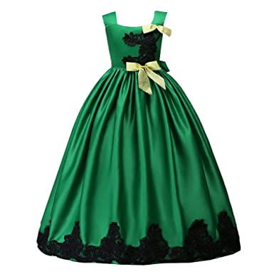 80ab4f9a8 Amazon.com  Little Big Girl Flower Lace Tutu Princess Dress Prom ...