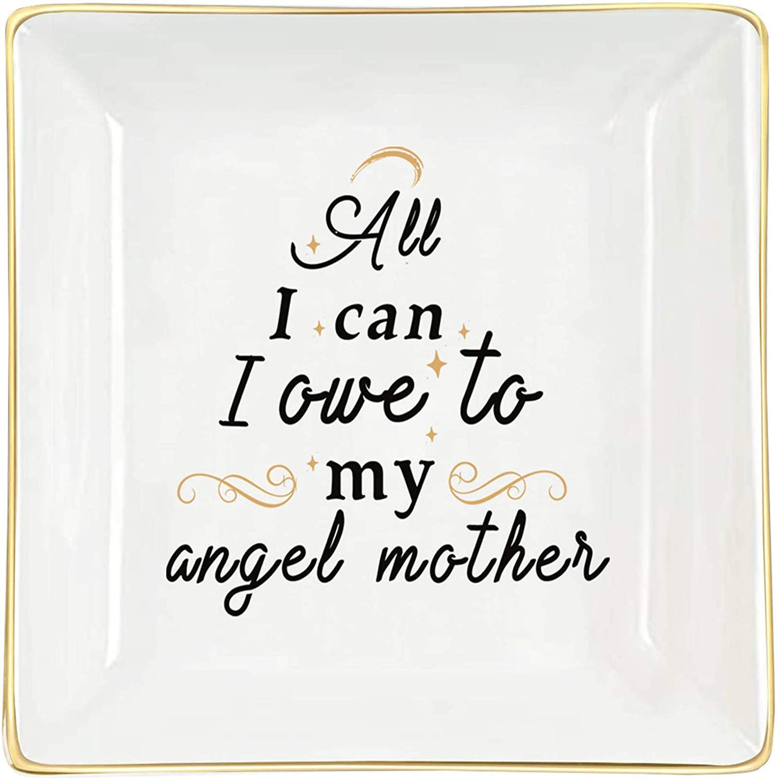 H&B Living Mother Gifts Decorative Jewelry Dish- Birthday Gifts For Mom Mother