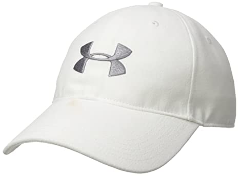 Under Armour Mens Core Canvas Dad Cap, White (100)/Zinc Gray,