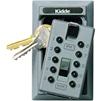 Kidde AccessPoint 001015 KeySafe Original Push Button Combination Permanent Key Lock Box, 5-Key, Titanium Gray
