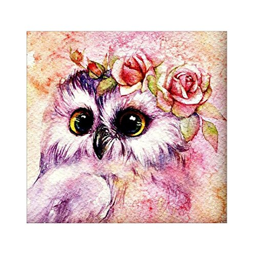 FORESTIME 5D DIY Diamond Painting Kit, Cute Girl Owl Cross