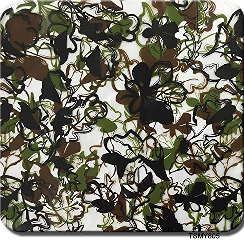 Flame Hydro Film Hydrographic Film, Water Transfer Printing Film - Hydro Dipping -Camouflage Pattern-Hydro Dip Film0.5Meter Multi-Color Optional (Color : TSMY805, Size : 0.5mx10m)