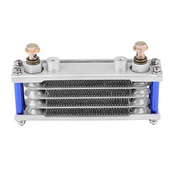 KIMISS Kit de radiador de enfriamiento de aceite Enfriador de aceite del motor de motocicleta para CB CG 100CC-250CC(65ML-plata): Amazon.es: Coche y moto