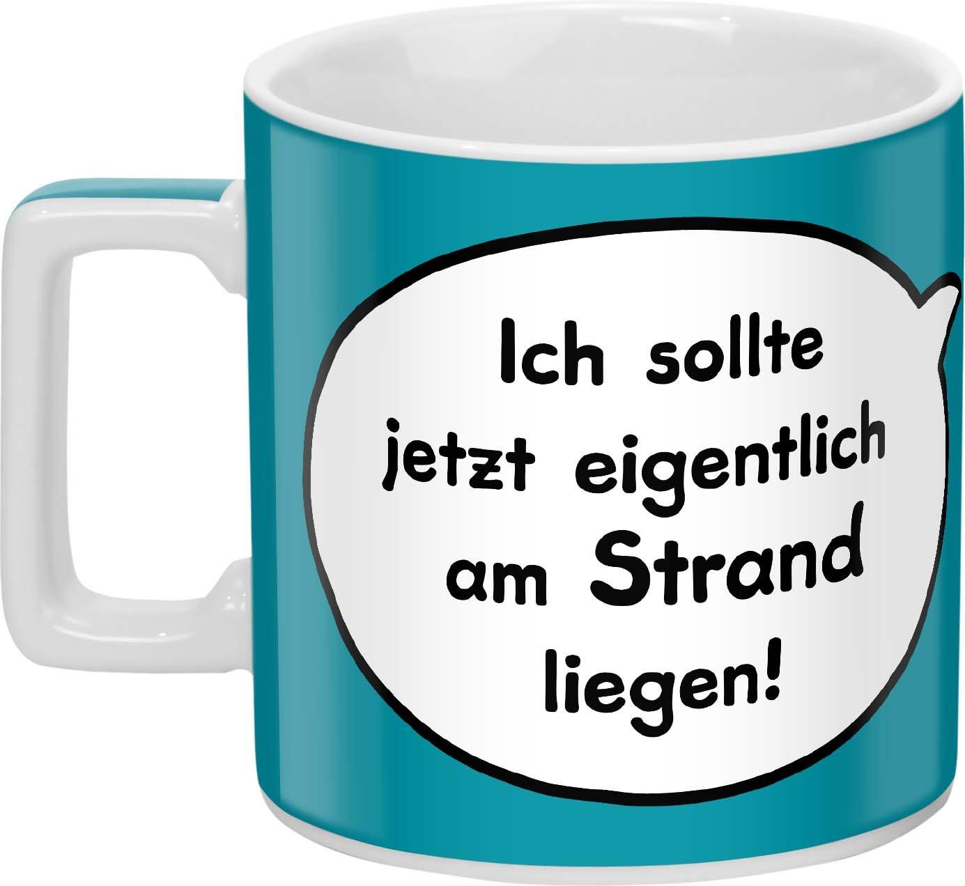 Sheepworld Wortheld Tasse 44062 Tasse Mit Spruch Strand Porzellan