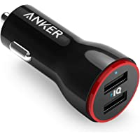 Anker 24W Dual USB Car Charger, Powerdrive 2 for iPhone X / 8/7 / 6S / Plus, iPad Pro/Air 2 / Mini, Galaxy S7 / S6…