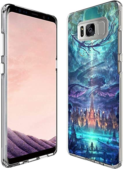Amazoncom Silicone Clear Case For Samsung Galaxy S8 Plus