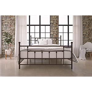 DHP Manila Metal Bed Frame, Queen Size – Bronze