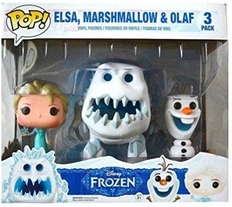 Funko - Pack de 3 Figurines Pop La Reine des Neiges - Elsa snow, Marshmallow et Olaf - 0849803050443: Amazon.es: Juguetes y juegos