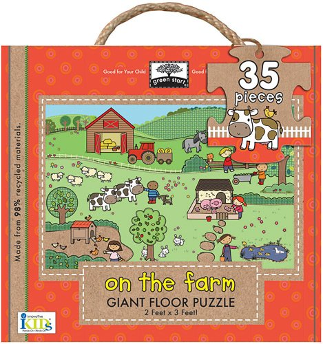 Green Start Wooden Puzzles - Innovative Kids Green Start Giant Floor On The Farm Puzzles (35 Piece)