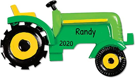 Road To Christmas  2020 Trailer Amazon.com: Personalized Green Tractor Christmas Tree Ornament