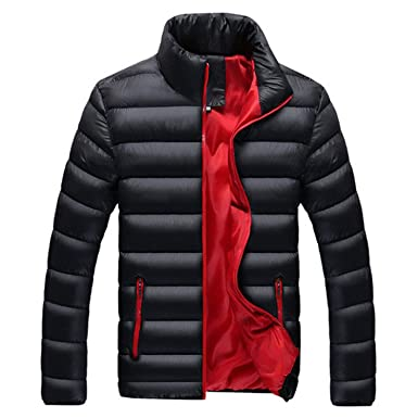 Amazon.com: Jacket Men Warm Coat Black Outwear Chaquetas ...