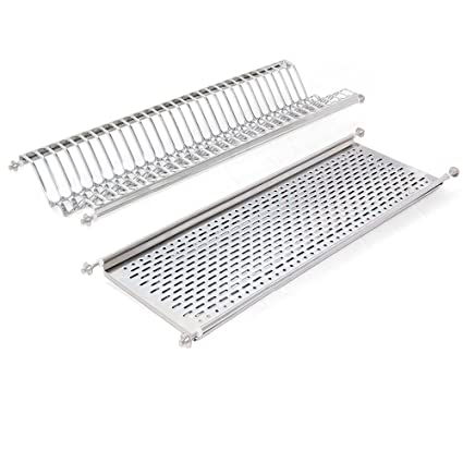 Amazon.com: Emuca 8929865 Stainless steel dish drying rack ...