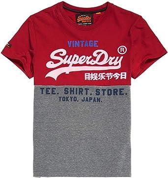 Panel de tienda de Superdry Camisa Para Hombres Camiseta AOP Blanco
