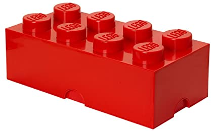 Ordinaire LEGO Storage Brick 8, Red