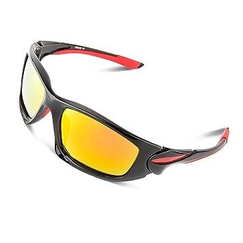 428a6a93aa RIVBOS® polarizadas Deportes Gafas de sol Gafas de conducción para hombres  mujeres TR90 Unbreakable marco para Running Béisbol Ciclismo rb828:  Amazon.es: ...