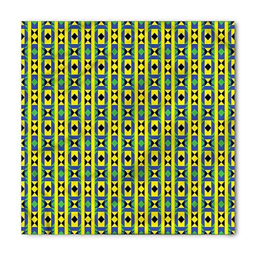 Kente Pattern Bandana, Geometric Kenya, Unisex Head and Neck Tie (Sofa Kenya)