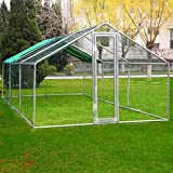 Idealchoiceproduct 20x10ft Large Metal Chicken Coop Wakl-in Chicken Coops and Runs Backyard Hen house Farm Ranch Run Walk in Poultry Cage
