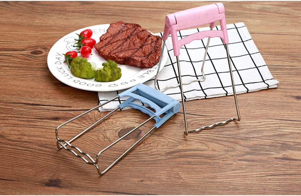 Redcolourful Multifunction Stainless Steel Wheat Straw Anti-Scald Clip for Kitchen Dishes Pot Bowl Taking Nordic Blue Creative Lifestyle