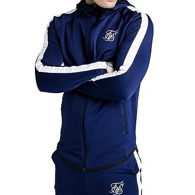 Sik Silk Chaqueta Azul Cremallera Sport Fit Hombre: Amazon ...