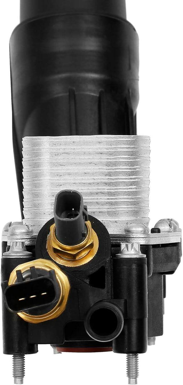 for 2014-2017 Dodge Jeep Chrysler Ram 3.6L V6 Engine Replaces# 68105583AF Engine Oil Cooler Oil Filter Housing Adapter Assembly 68105583AE 68105583AA