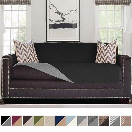 SOFA SHIELD Original Reversible Sofa Slipcover, Dogs, Patent Pending,  2u0026quot; Strap/