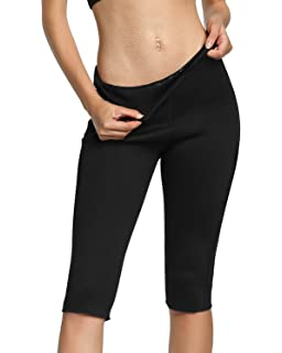 3fb4f6bf46 Roseate Women s Slimming Pants High Waist Body Shaper Thermo Sweat Workout  Capri