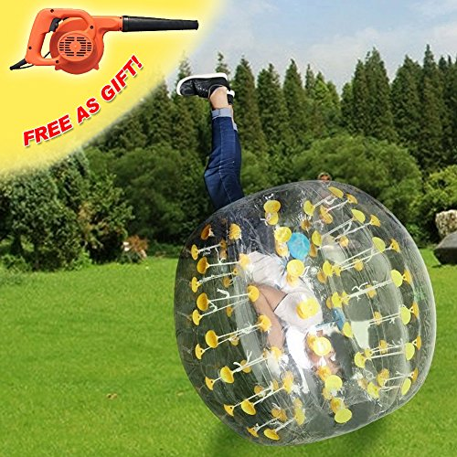 RACPLUS 1.5M/4.9FT Human Knocker Ball Inflatable Bumper Soccer Zorb Ball for Adult(With 1 FREE Air Pump) by RACPLUS