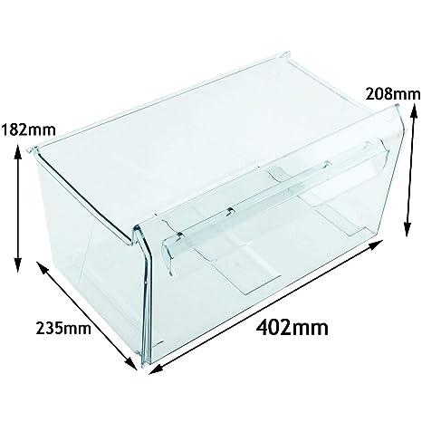 Zanussi inferior cajón inferior congelador recipiente de plástico ...