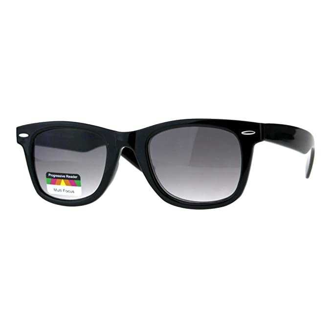b08ababb5a Multi Focus Progressive Reading Sunglasses 3 in 1 Reader Square Black +1.5
