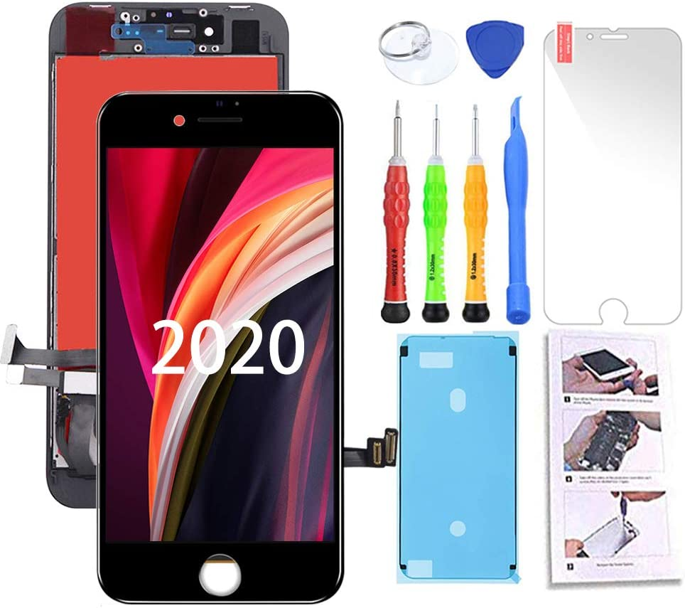 TSIOFO for iPhone SE 2020 Screen Replacement 4.7 inch [ 2nd Generation ] 3D Touch Screen LCD Digitizer Display Assembly with Free Repair Tools