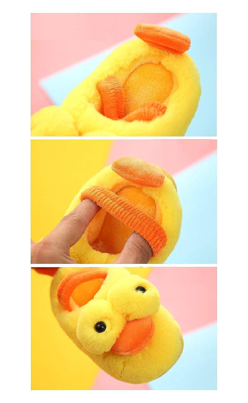 UEPXNKELWEN House Slippers for Kids,Toddler Boys Girls Shoes Cute Cartoon Duck Soft Plush Slip-on Winter Warm