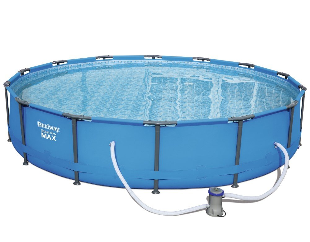 Bestway Steel Pro MAX Frame Pool Set, rund 427x84 cm Stahlrahmenpool ...