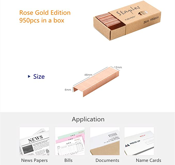 1000pcs size no12 staples box for rose gold stapler office home school supply Nw