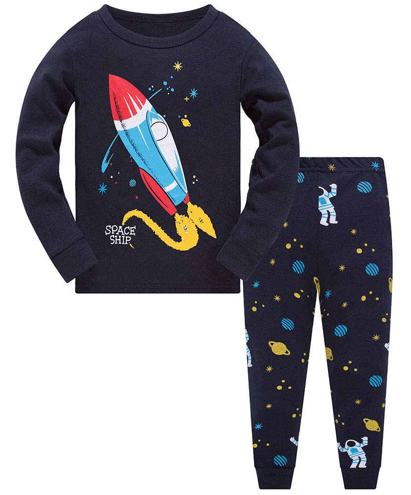 Boys Dinosaur Pyjamas Sets Children Kids 100/% Cotton Pajamas Pjs Toddler Baby Cute Excavator T Shirt /& Shorts Pants Sleepwear Outfit Christmas Xmas Nightwear Age 1 2 3 4 5 6 7 Years