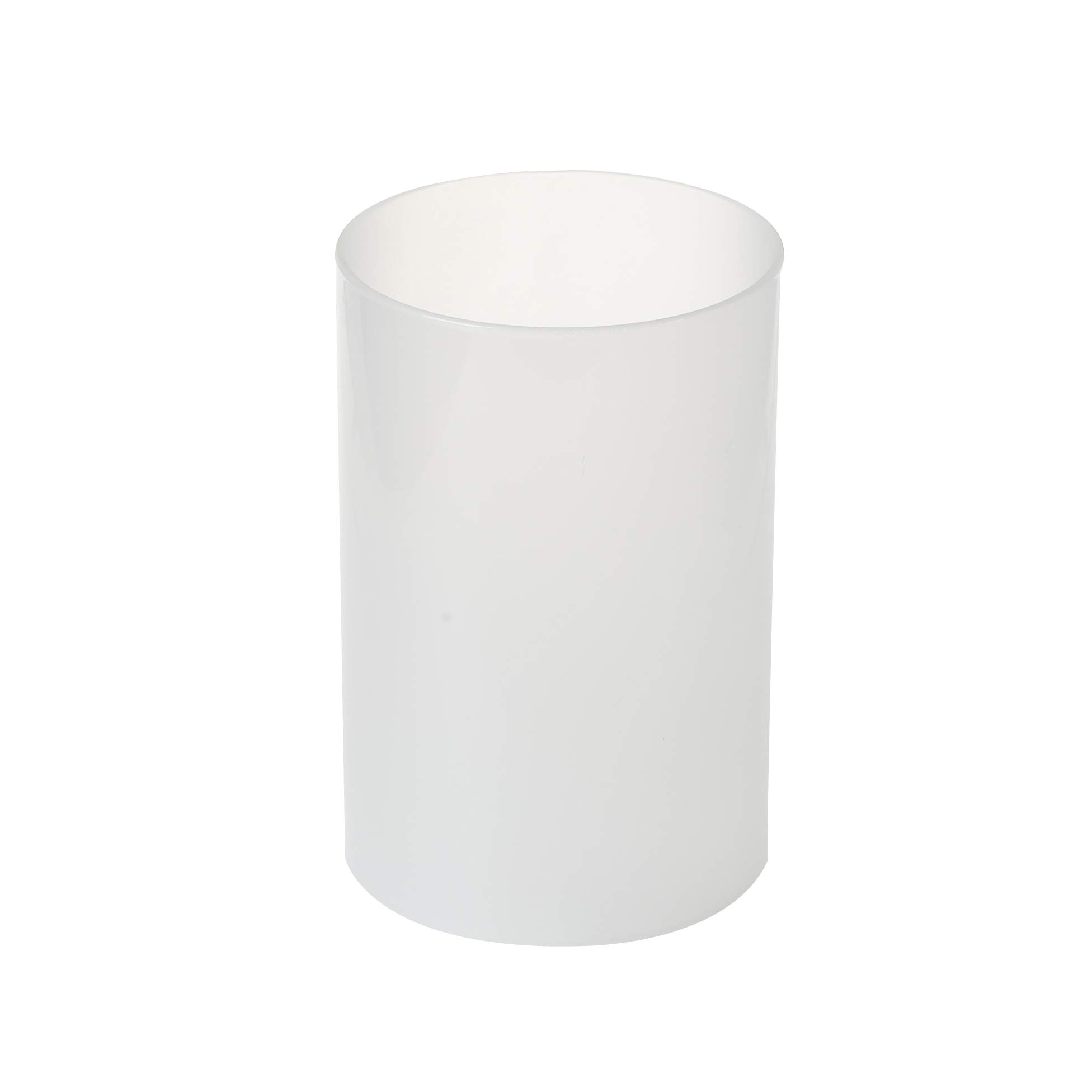KICHI Various Size Frosted Glass Hurricane Candle Holders, Chimney Tube, Frosted Glass Cylinder Open Both Ends, Open Ended Hurricane, Frosted Lamp Shade for 8'' x 18'' Multiple Specifications