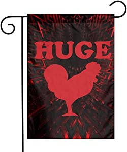Cbmvnc Zc Huge Cock Funny Offensive Chicken Decorate Pub Flag Outdoor Courtyard Garden Flag