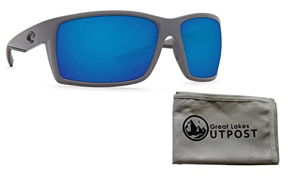 d9f857f884f6 Image Unavailable. Image not available for. Color: Costa Reefton Sunglasses  with Matte Gray Frame and Blue Mirror 580G ...