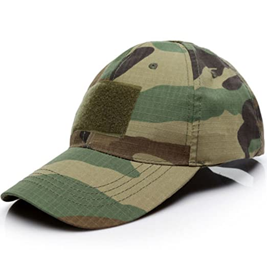 d26a8fecb34 Camo Sun Cap Military Special Forces Operator Tactical Army Baseball Hat  with American Flag Patch(