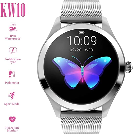 Smart Watch KW10,pantalla táctil redonda IP68 Smartwatch a prueba ...