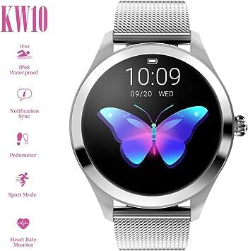 Amazon.com: ZDY Smart Watch KW10, pantalla táctil redonda ...